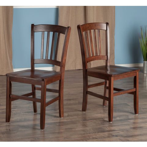 Madison 2-Pc Set Slat Back Chairs