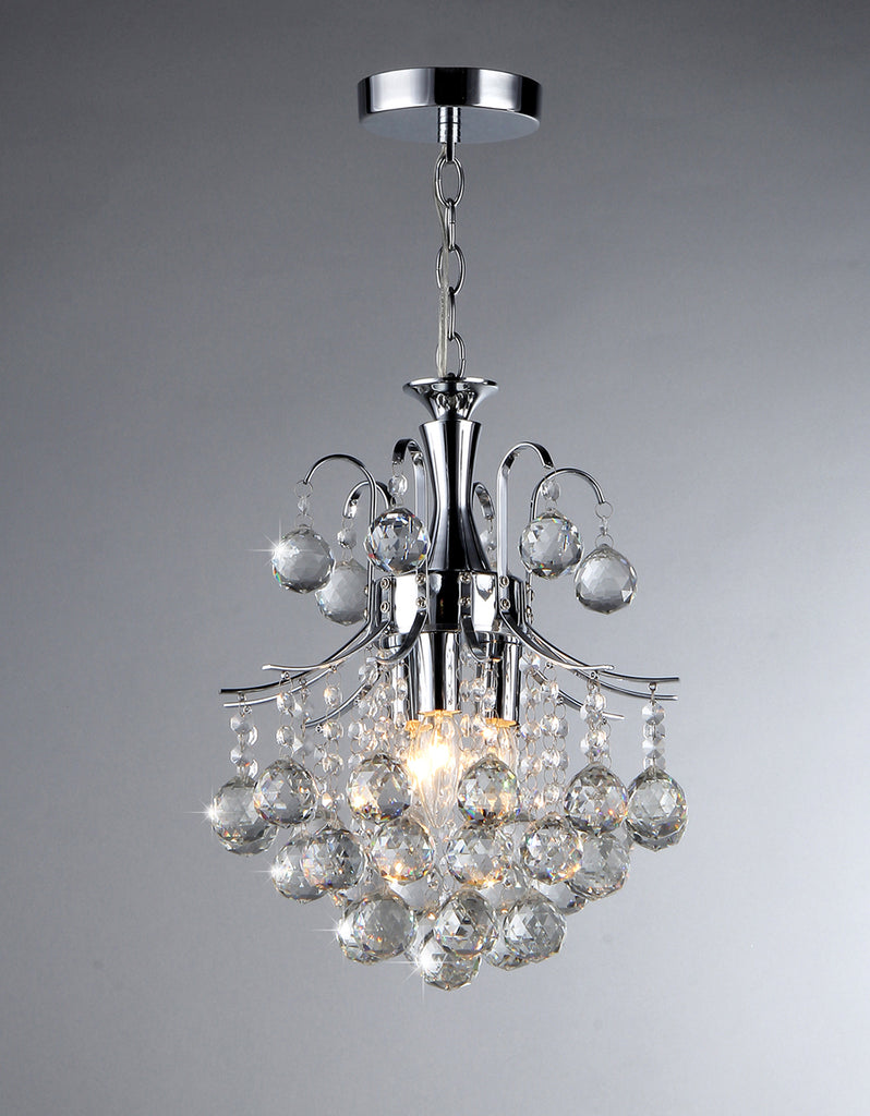 Vector Crystal and Chrome Chandelier