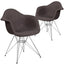 Alonza Series Fabric Chair with Chrome Base (2 Chairs)