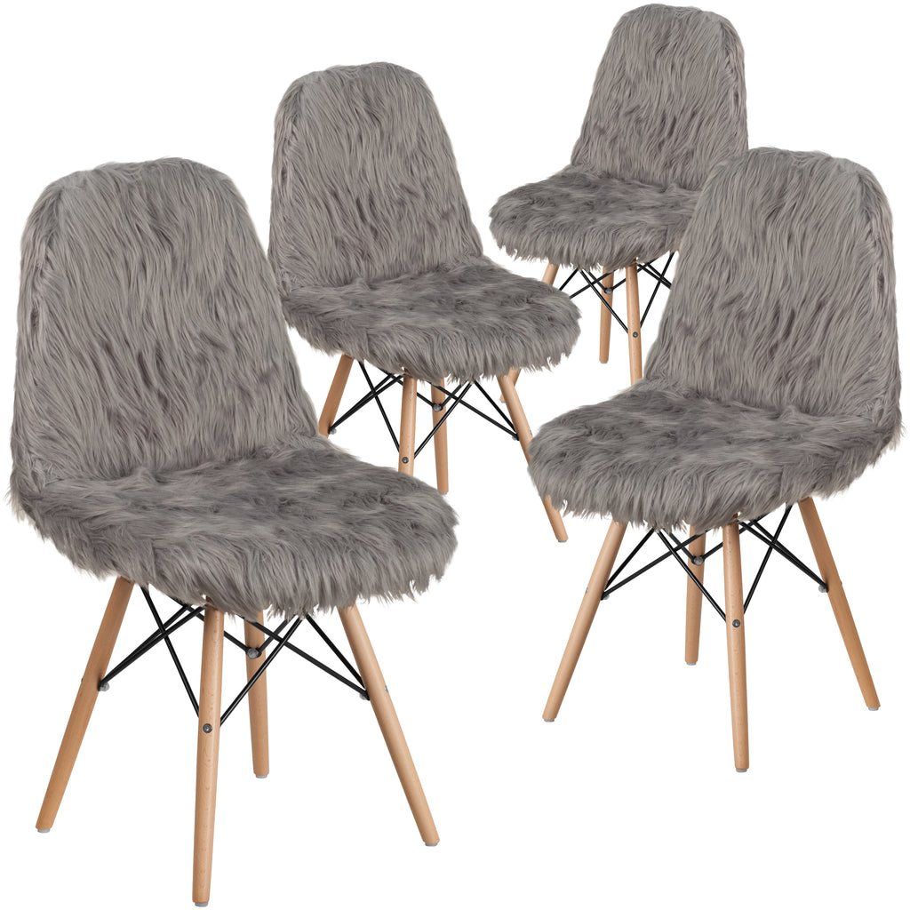 4 Pk. Shaggy Dog Accent Chair