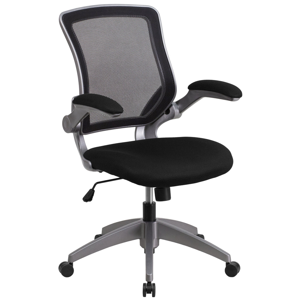 Mid-Back Mesh Swivel Task Chair with Frame and Flip-Up Arms