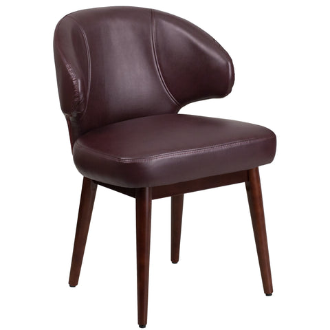 Comfort Back Series Reception-Lounge-Office Chair with Walnut Legs