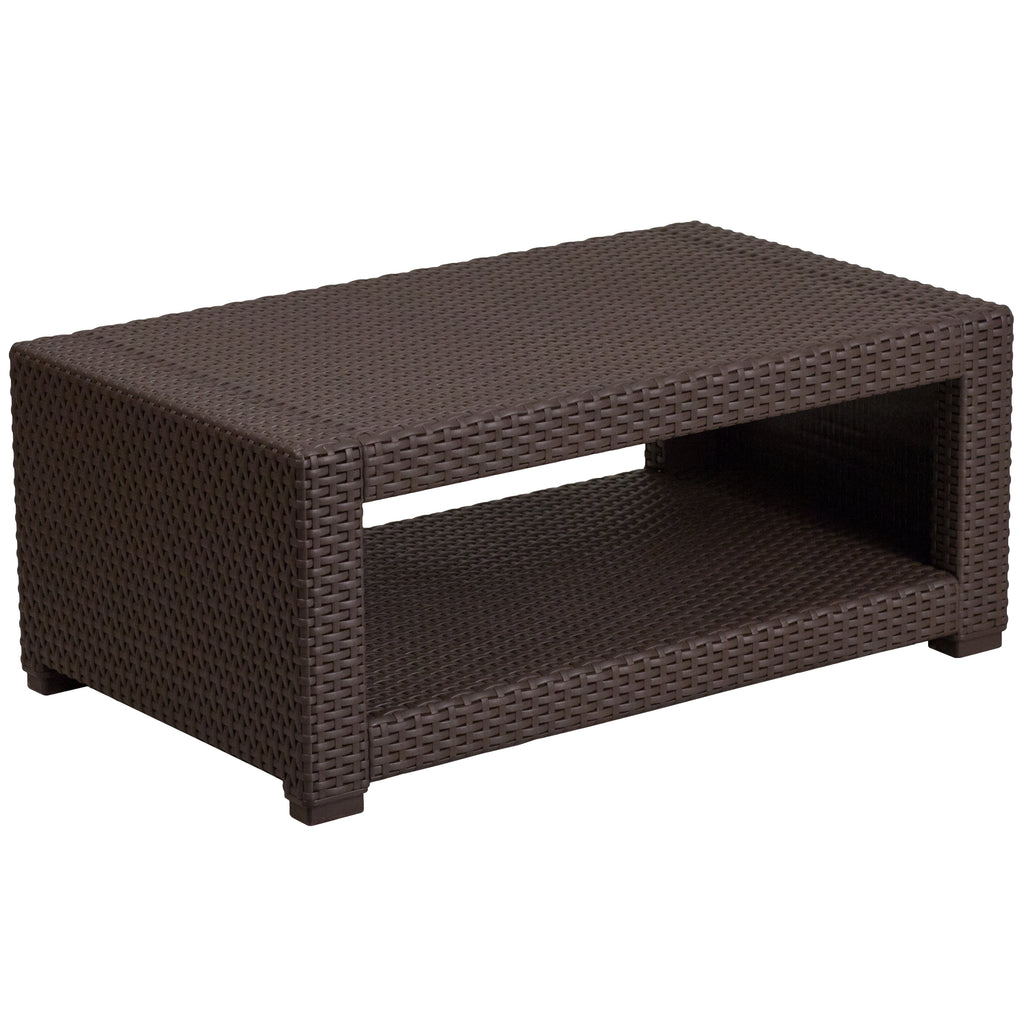 Faux Rattan Coffee Table