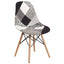 Elon Series Fabric Chair with Wood Base