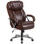 HERCULES Series 500 lb. Capacity Big & Tall Leather Executive Swivel Office Chair with Extra Wide Seat