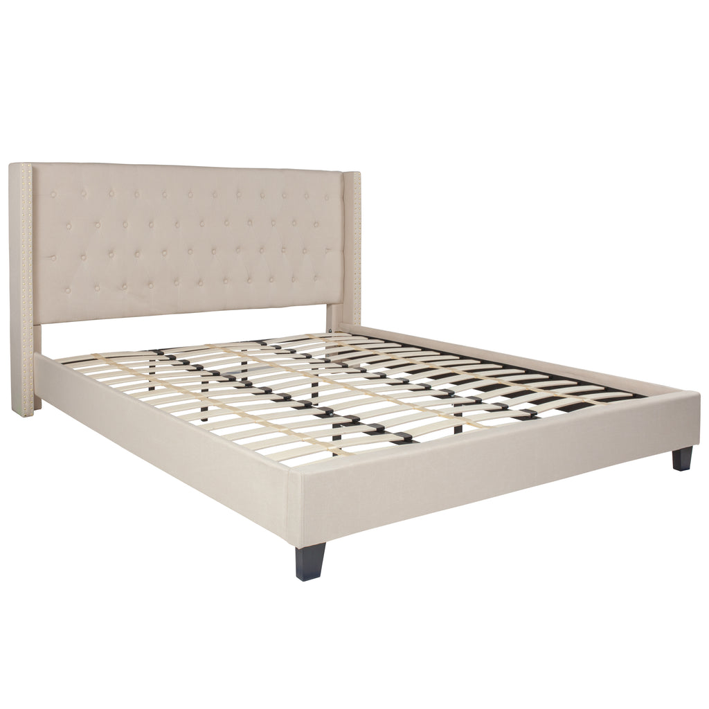 Riverdale King Size Tufted Upholstered Platform Bed