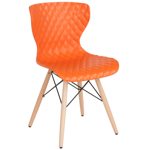 Bedford Contemporary Design Plastic Chair with Wooden Legs