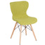 Riverside Contemporary Upholstered Chair with Wooden Legs