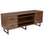 Lincoln Collection TV Stand in Wood Grain Finish