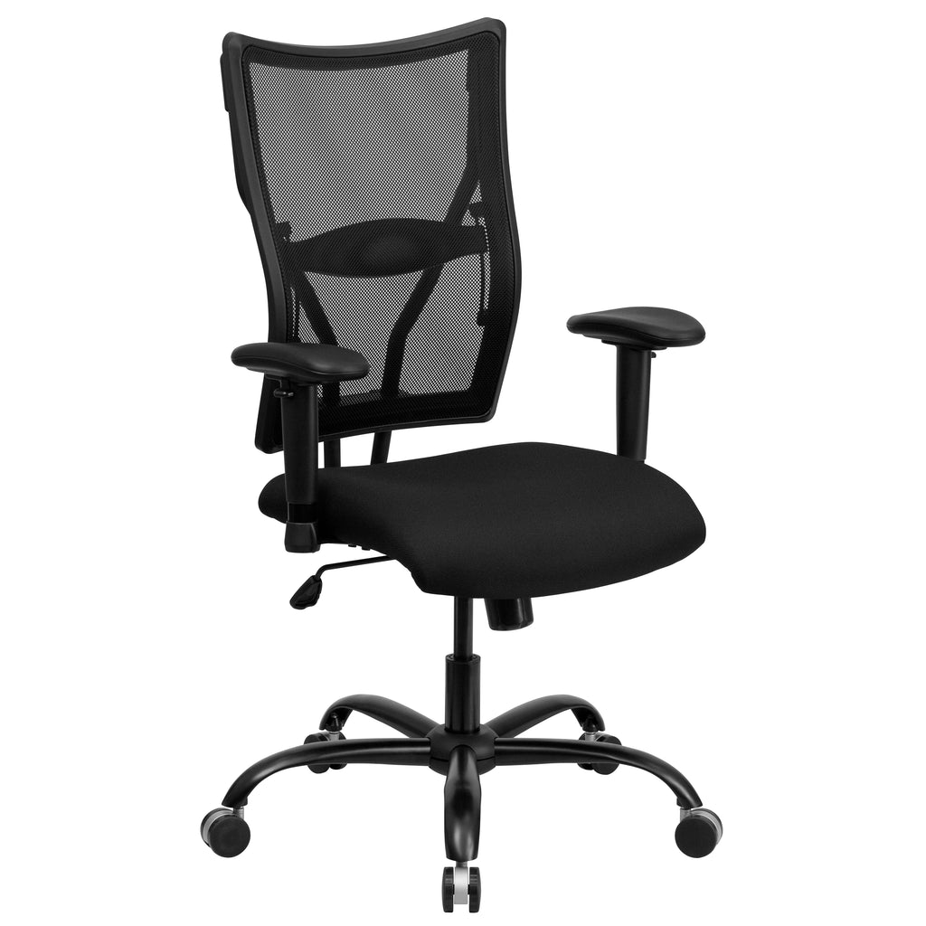 HERCULES Series 400 lb. Capacity Big & Tall Mesh Executive Swivel Office Chair with Height Adjustable Arms