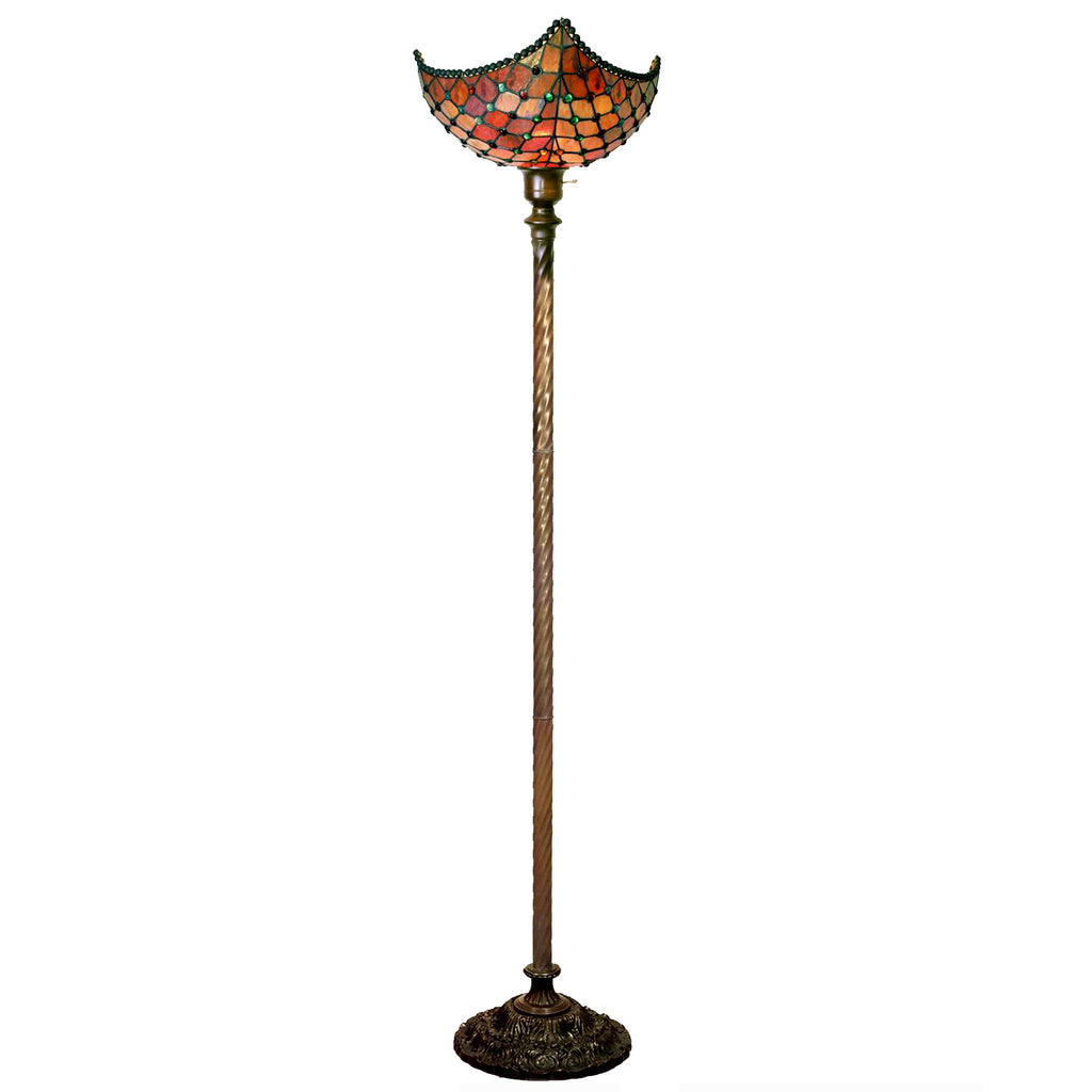 Tiffany-style Beaded Torchiere: Tiffany-style Royal Torchiere