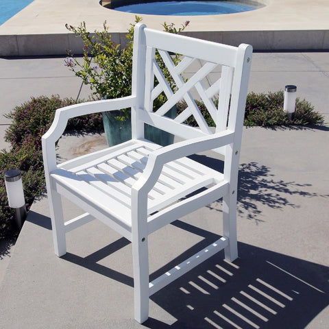 Bradley Outdoor Wood Arm Chair