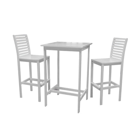 Bradley Outdoor Acacia Wood  Bar Set 1: Bradley Outdoor Acacia Wood  Bar Set 2