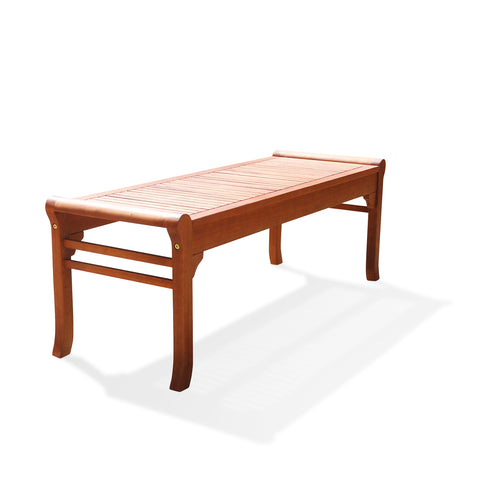 Malibu Eco-friendly 4-foot Backless Outdoor Hardwood Garden Bench Natural