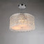 Garcia Chrome and Crystal Round 4-light Chandelier