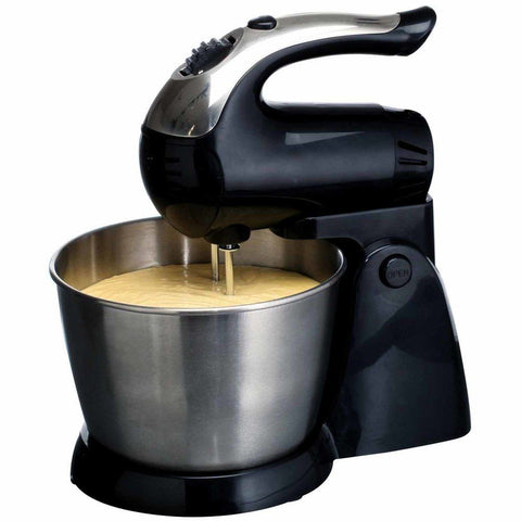 Brentwood 5-Speed Stand Mixer Stainless Steel with Bowl (200w Black)