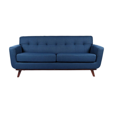 RETRO MID CENTURY NAVY BLUE FABRIC SOFA