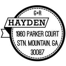 Hayden Personalized Self-inking Round Return Address Stamp on Envelope