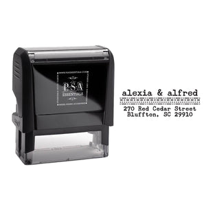 Rectangle PSA Essentials Personalized Self-Inking Return Address Stamp