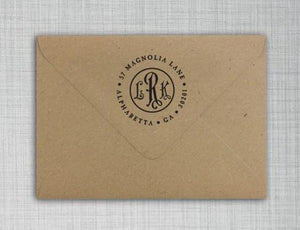 Roman Deluxe Return Address Stamp