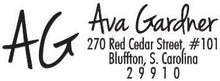 Ava Rectangle Personalized Self Inking Return Address Stamp