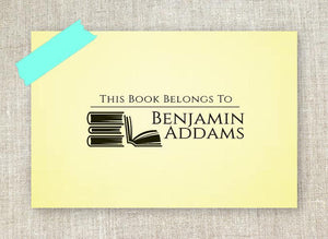 Benjamin Rectangle Personalized Self Inking Return Address Stamp on Note Paper
