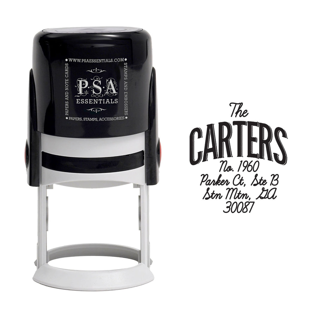 Carters Personalized Self Inking Round Return Address Stamp