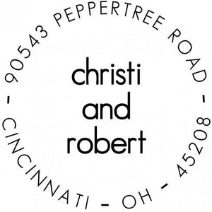 Christi Personalized Self-inking Round Return Address Stamp