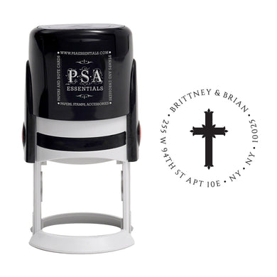 Cross Return Address Stamp