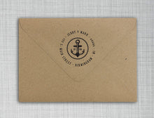 Rope Personalized Self-inking Round Return Address Stamp on Envelope