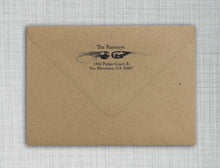 Shrimp and Prawn Rectangle Personalized Self Inking Return Address Stamp on Envelope