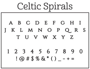 Celtic Spirals Return Address Stamp
