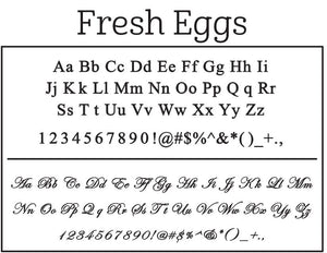 Fresh Eggs Stamp