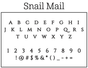 Snail Mail Personalized Self-inking Round Return Address Stamp Font