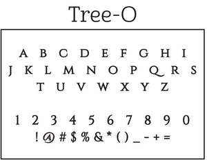Tree-O Personalized Self-Inking Return Address Stamp Font