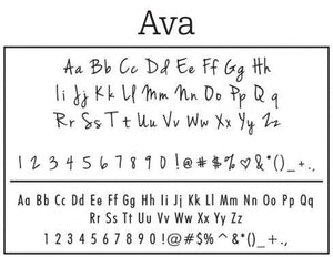 Ava Rectangle Personalized Self Inking Return Address Stamp font