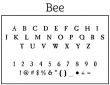 Bee Return Address Self Inking Stamp Font