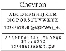 Kelly Hughes Chevron Personalized Self-inking Round Return Address Stamp Font