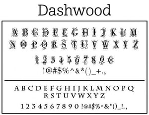 Dashwood Letter Return Address Self-Inking Stamp font