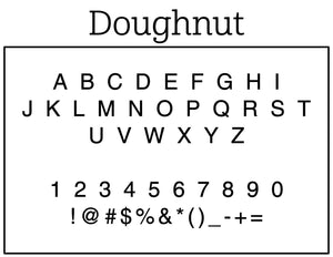 Doughnut Personalized Self-inking Round Return Address Stamp Font