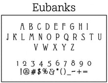 Eubanks Personalized Self-inking Round Return Address Stamp Font