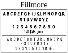 Filmore Rectangle Personalized Self Inking Return Address Stamp font