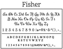 Fisher Personalized Self-inking Round Return Address Stamp on Envelope