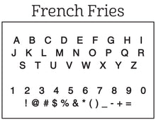 French Fries Personalized Self-inking Round Return Address Stamp Font