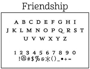Friendship Personalized Self-inking Round Return Address Stamp Font