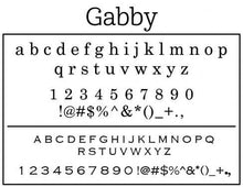 Gabby Personalized Self-inking Round Return Address Stamp Font