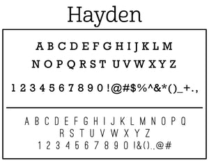 Hayden Personalized Self-inking Round Return Address Stamp Fonts