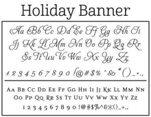 Holiday Personalized Self-inking Round Return Address Stamp Fonts