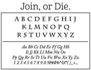 Join Personalized Self-inking Round Return Address Stamp Fonts