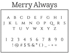 Merry Personalized Self-inking Round Return Address Design Font